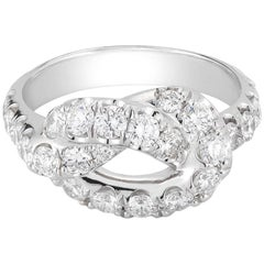 1.81 Carat Pave Diamond Love Knot Ring