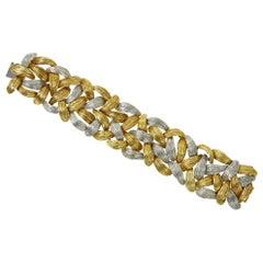 1960s Emil Meister Bicolor Gold Bracelet