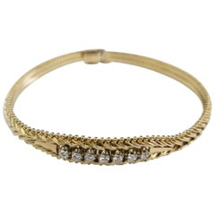 "14 Karat Diamond ""Chevron"" Bracelet"