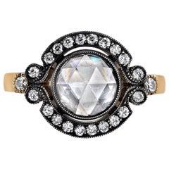 0.75 Carat EGL Certified Rose Cut Diamond Ring