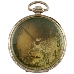 Illinois Watch Co. Grade 525 14 Karat Gold Open Face Pocket Watch 17 Jewel