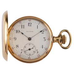 Waltham Seaside 14 Karat Yellow Gold Full Hunter Pocket Watch 7J 1901