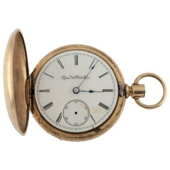 Elgin Full Hunter Gold Filled Pocket Watch 11 Jewels 1888 Gr: 102