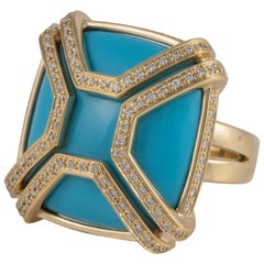 Di Modolo Favola Turquoise and Diamond Ring