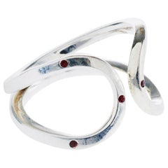Silver Love Ring Orange Sapphire Open Adjustable Infinity Symbol J Dauphin