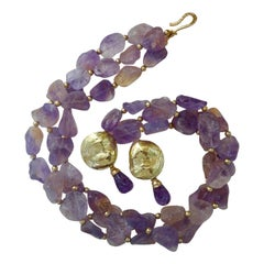Michael Kneebone Ametrine Torsade Amethyst Jingle Earring Suite