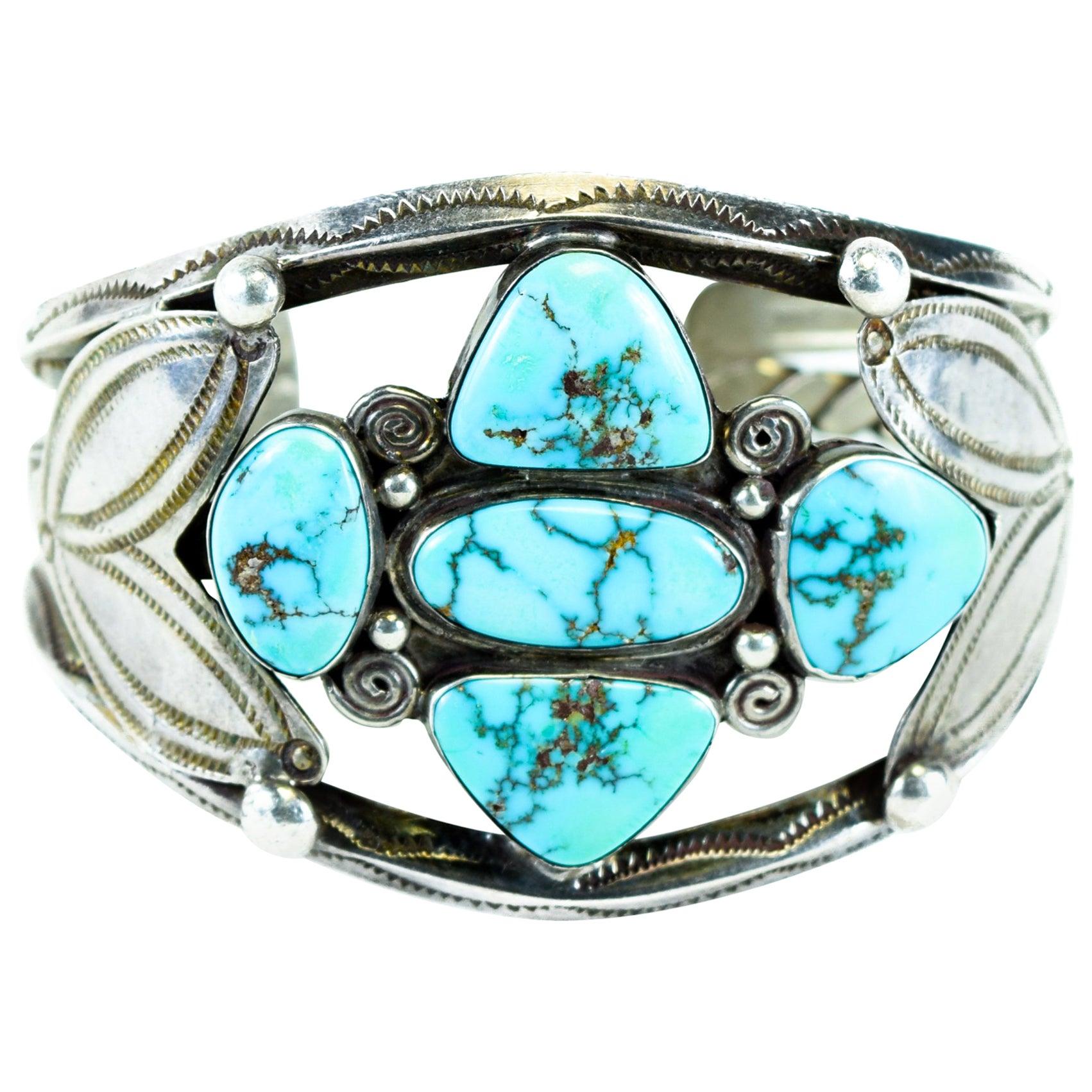 Navajo Morenci Turquoise Bracelet