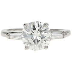 Platinum 2.01 Carat Round Diamond Engagement Ring