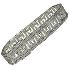 White Gold Diamond Bracelet 5.00 Carat Total Weight