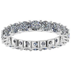 2.5 Carat White Diamonds Stackable Eternity Ring Platinum 950