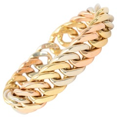 Weingrill Tricolor Gold Curbchain Links Bracelet