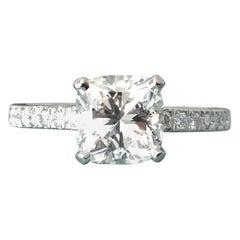 Tiffany & Co. Platinum Diamond 1.09 Carat NOVO Engagement Ring H VS2