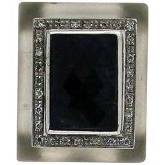 Sapphires 18 Karat White Gold Diamonds Clip-On Earrings