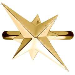 9 Carat Yellow Gold Northern Star Ring