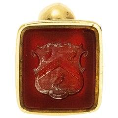 Victorian Carnelian High Carat Gold Seal