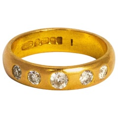 Vintage Diamond and 22 Carat Gold Ring