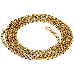Victorian 9 Carat Gold Long Guard Chain