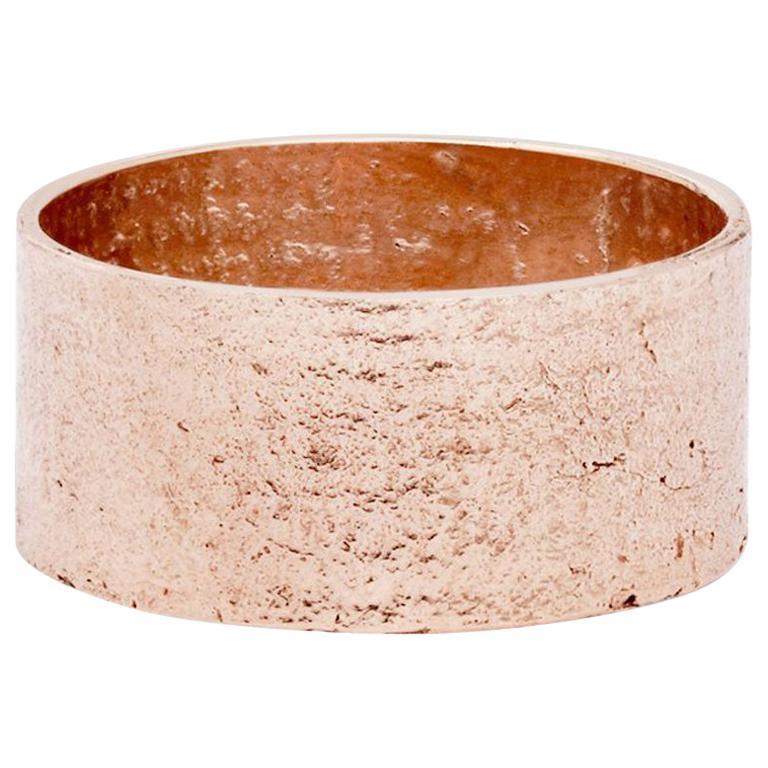 Paper Cigar Ring in 18 Karat Rose Gold by Allison Bryan