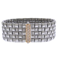 Roberto Coin Appassionata White Rose Gold and Diamond Bracelet