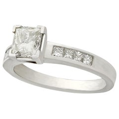 Princess Cut Diamond and Platinum Solitaire Ring