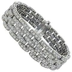 12.50 Carat Diamond White Gold Bracelet