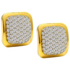 6.00 Carat Diamond Gold Earrings