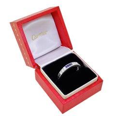 Cartier 1950s Platinum Diamond Sapphire Full Eternity Band Ring