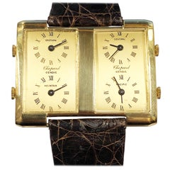 Chopard Vintage Yellow Gold 4 Time Zone Mechanical Wristwatch