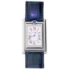 Cartier Tank Reverso Basculante Ref 2405 Unisex Wristwatch Stainless Steel