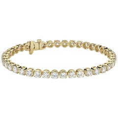 3 Carat Round Brilliant Cut Diamond Tennis Bracelet in 14 Karat White Gold