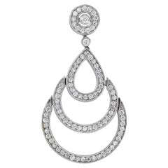 Round Diamond Art Deco Dangle Pendant