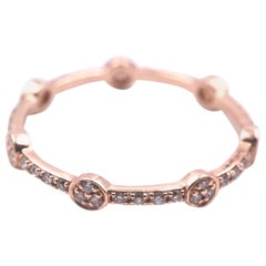 14 Karat Rose Gold Stackable Eternity Band