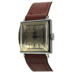 Never Used Art Deco Gents Wristwatch, 1930s, Lov