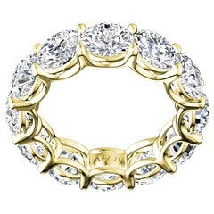 4 Carat Round Brilliant Cut Diamond Anniversary 18 Karat Yellow Gold Ring