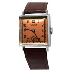 Never Used Art Deco Gents Wristwatch, 1930s, Marcella