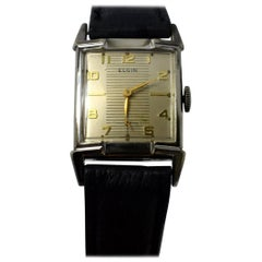 1940s Art Deco Gents Wrist Watch 19 Jewels, Elgin