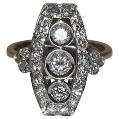 Diamonds Cocktail Three-Stone Ring