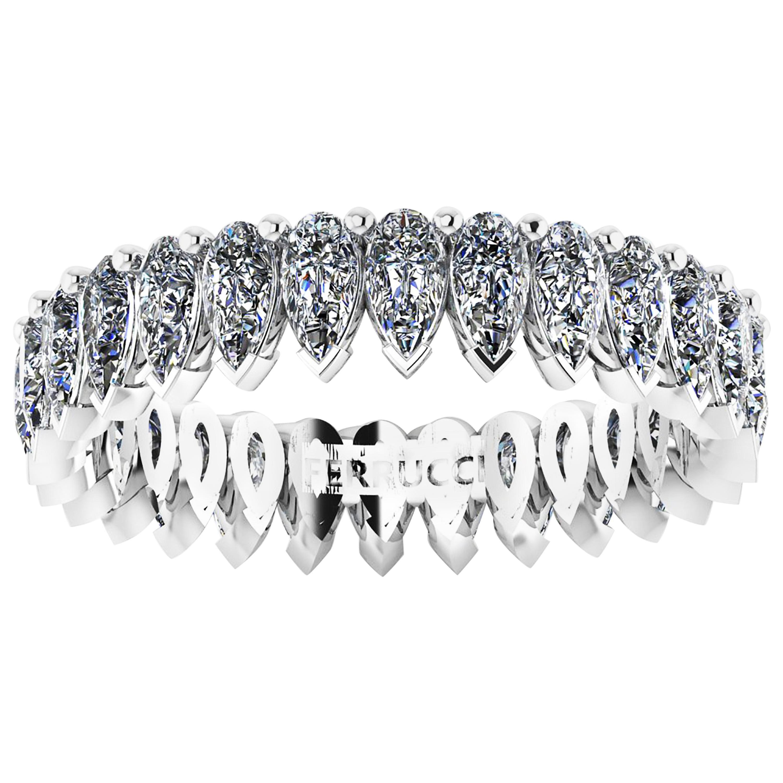 1.90 Carat White Pear Shape Diamonds Eternity Band Platinum 950