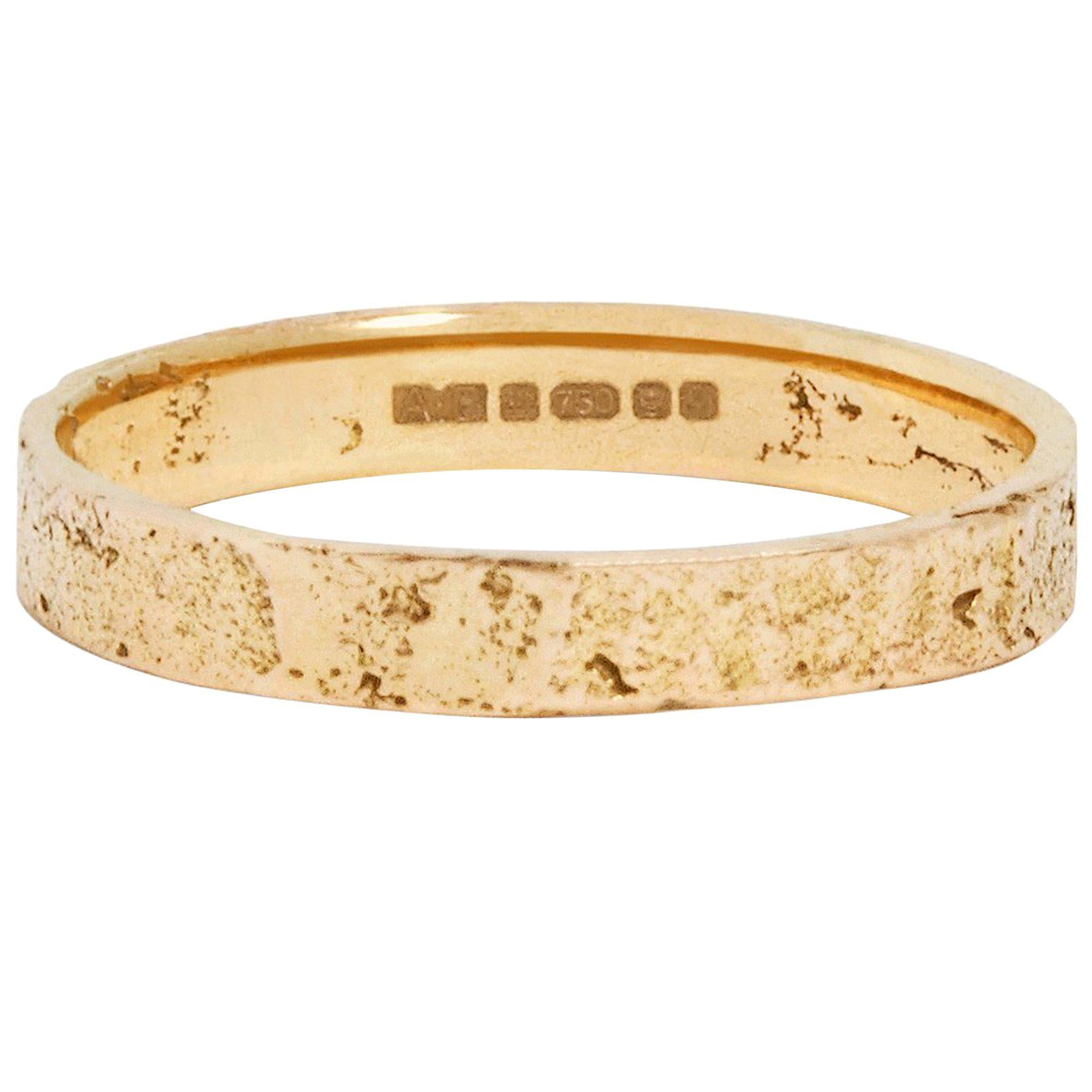 Paper Ring in 9 Karat Gold by Allison Bryan
