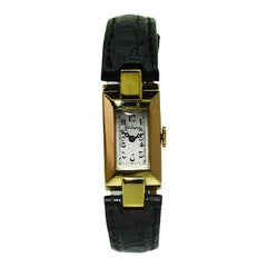 Jules Jurgensen 18 Karat Solid Two-Color Gold Art Deco Ladies Watch, 1930s