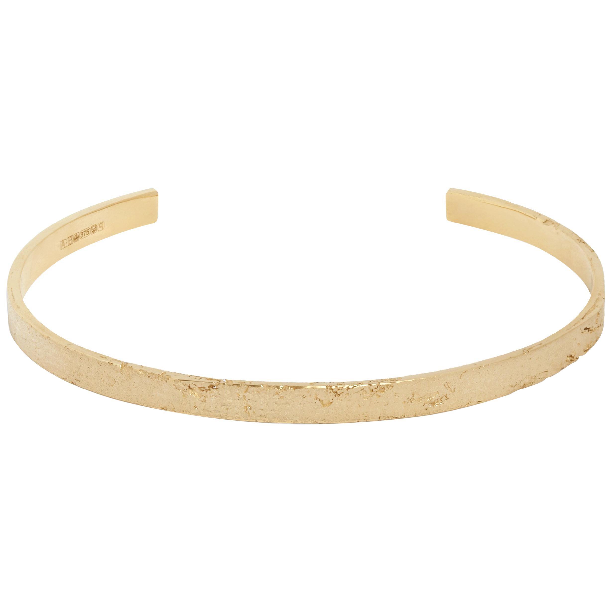 Men's Yellow Gold Paper Cuff Bracelet by Allison Bryan