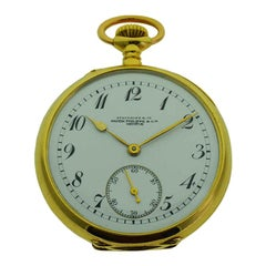 Patek Philippe 18 Karat Yellow Gold Pendant Watch with Enamel Dial and Archival