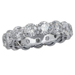 Vivid Diamonds GIA Certified 6.12 Carat Diamond Eternity Band
