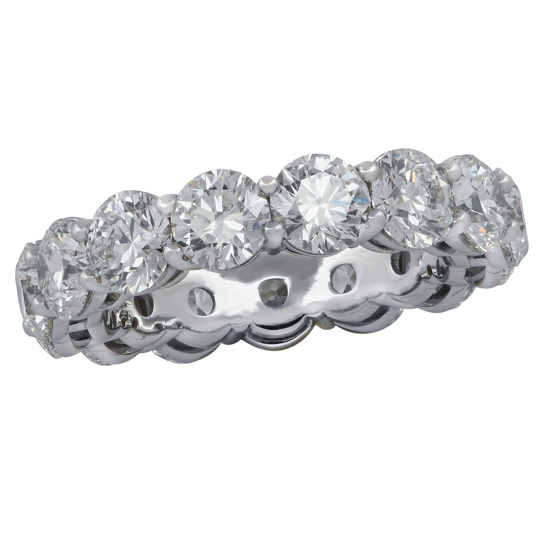 Vivid Diamonds GIA Certified 6.12 Carat Diamond Eternity Band