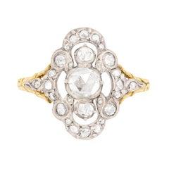 Victorian Rose Cut Diamond Cluster Ring, circa 1860s