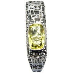 TFS by Roberto Coin Black Silver Bracelet with Lemon Quartz