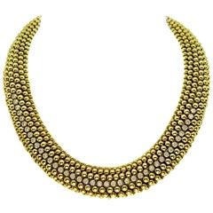Tresor Diamond Yellow Gold Necklace
