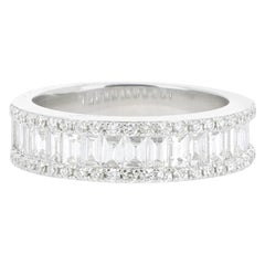 GVS 0.47 Eternity Ring set with Round Diamonds 18K White Gold Band Ring