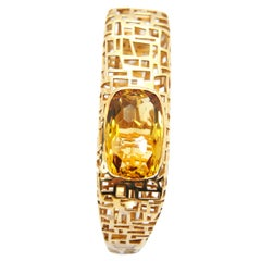 TFS by Roberto Coin Gold-Plated Silver Bracelet with Oval Citrine