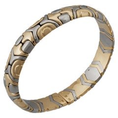 Bvlgari 18 Karat Yellow Gold and Stainless Steel Parentesi Bracelet